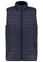 Burton Menswear London Waistcoat Navy Dark Blue