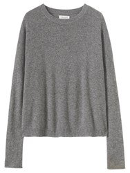 Toast Boxy Wool Cashmere Jumper Flannel Grey