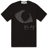 Comme Des Garcons Play Eye Tee Black And Black