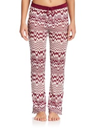 Missoni Mare Drawstring Pants Dark Red
