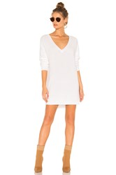 525 America Emma V Neck Sweater White