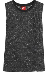 Nike Printed Perforated Jersey Tank Black