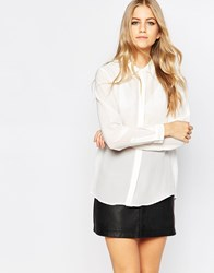 Just Female Nauti Nautical White Silk Shirt 1