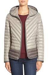 Women's Kensie Hooded Packable Down Jacket Mushroom