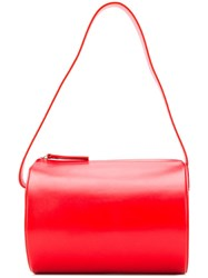 Building Block Barrel Tote Red