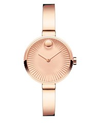 Movado Edge Ionic Rose Goldplated Bangle Bracelet Watch