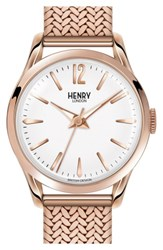Henry London 'Richmond' Analog Mesh Strap Watch 25Mm