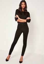 Missguided Black Rebel Supersoft Superstrech Skinny Jeans