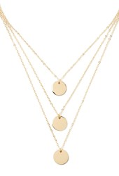 Forever 21 Disc Charm Necklace Set Gold