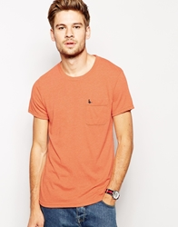 Jack Wills T Shirt With Pocket In Vintage Jersey Orange