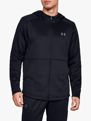 Under Armour Mk 1 Warm Up Full Zip Training Hoodie Black Pitch Grey
