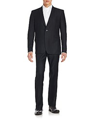 Versace Regular Fit Wool Suit Nero