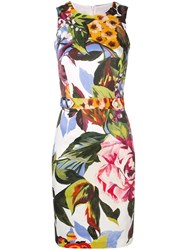 Blugirl Floral Fitted Dress Green