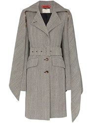 Ronald Van Der Kemp Collared Trench Coat Black