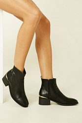 Forever 21 High Polish Ankle Booties
