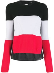 Armani Exchange Tri Colour Knot Sweater Black