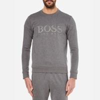 Hugo Boss Green Men's Salbo Logo Sweatshirt Medium Grey