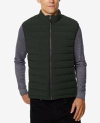 32 Degrees Men's Packable Down Vest Hunter Melange