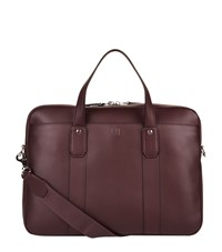 Dunhill Leather Hampstead Briefcase Burgundy