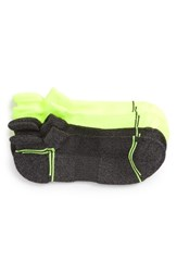 Nordstrom Men's Shop Tech Smart Assorted 2 Pack Socks Charcoal Chartreuse