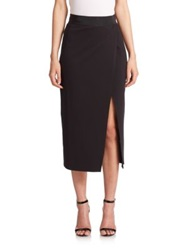 Abs By Allen Schwartz Crossover Pencil Skirt Black