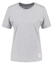 Converse Essentials Basic Tshirt Light Grey Heather Mottled Grey