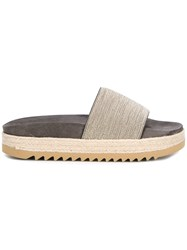 Brunello Cucinelli Ridged Sole Sandals Grey