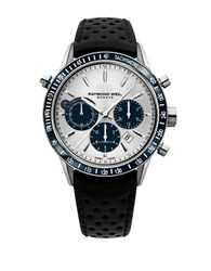 Raymond Weil Leather Strap Automatic Chronograph Watch Blue
