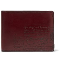 Berluti Scritto Leather Billfold Wallet Burgundy