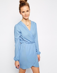 Love Wrap Dress With Long Sleeves
