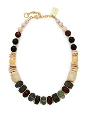 Lizzie Fortunato Landmark Gold Tone Necklace Multi
