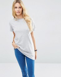 Asos The Ultimate Easy Longline T Shirt Grey
