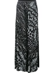 Missoni Patterned Knit Palazzo Trousers Black
