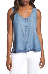Billy T Chambray Tank Med Blue