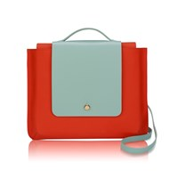 Jurekka Kolorama Flame And Mint Satchel Red Green Yellow