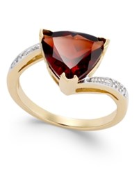 Macy's Rhodolite Garnet 3 5 8 Ct. T.W. And Diamond Accent Swirl Ring In 14K Gold Yellow Gold