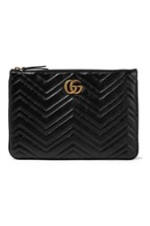 Gucci Marmont Quilted Leather Pouch Black