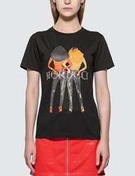 Fiorucci Vinyl Girls Boyfriend T Shirt Black