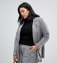 Junarose Houndstooth Suit Jacket Multi
