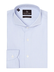 Chester Barrie Tailored Fit Cutaway Collar Formal Shirt Sky