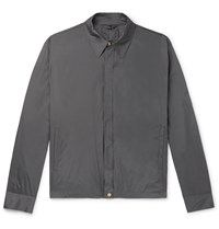 Dunhill Coated Mulberry Silk Blouson Jacket Gray
