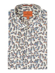 Simon Carter Liberty China Dog Print Shirt Blue