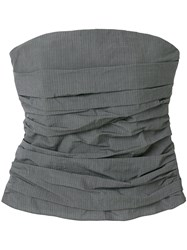 Hache Strapless Fitted Top Grey