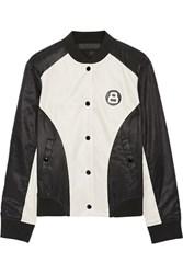 Rag And Bone Morgan Reversible Printed Satin Twill Bomber Jacket Black