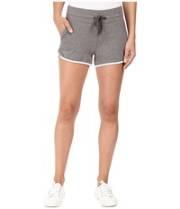 Alternative Apparel Vintage Sport French Terry Track Shorts Vintage Coal White Women's Shorts Gray