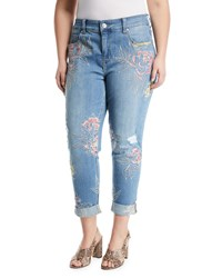 Melissa Mccarthy Seven7 Embroidered Skinny Jeans Plus Size