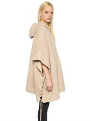 Rta Hooded Cashmere Knit Poncho W Laces