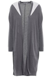 Duffy Woman Two Tone Cashmere Cardigan Taupe
