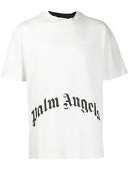 Palm Angels Two Tone Printed T Shirt White