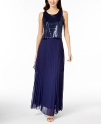 Msk Sequined Popover Gown Midnight